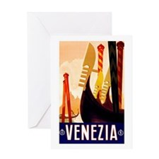 Venice Travel Poster 1 Greeting Card