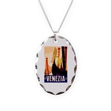 Venice Travel Poster 1 Necklace