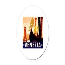 Venice Travel Poster 1 Oval Car Magnet