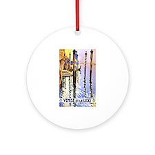 Venice Travel Poster 2 Ornament (Round)