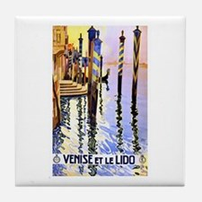 Venice Travel Poster 2 Tile Coaster