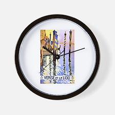Venice Travel Poster 2 Wall Clock
