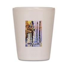 Venice Travel Poster 2 Shot Glass