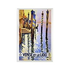 Venice Travel Poster 2 Rectangle Magnet