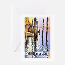 Venice Travel Poster 2 Greeting Card