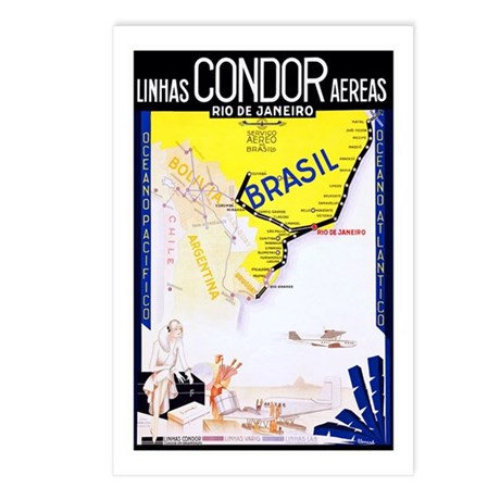 Brazil Travel Poster 1 Postcards (Package of 8)