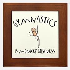 Cute Monkey business Framed Tile