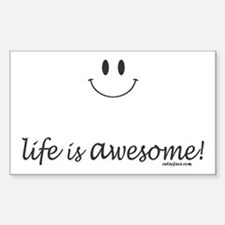 life is awesome Decal