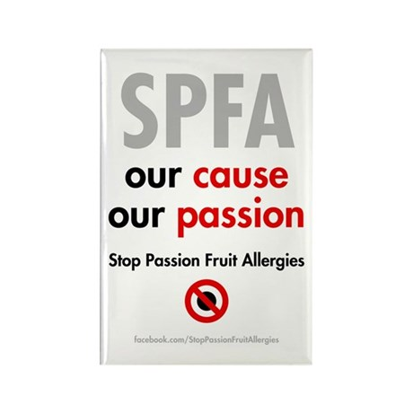 Square magnet: Stop Passion Fruit Allergies