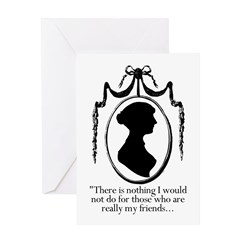 Those Who are Friends Jane Austen Greeting Card