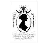 Jane Austen on Friendship Postcards (8 pack)