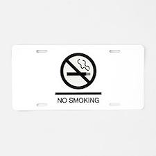 No Smoking Aluminum License Plate