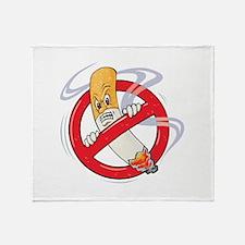 No Smoking Throw Blanket