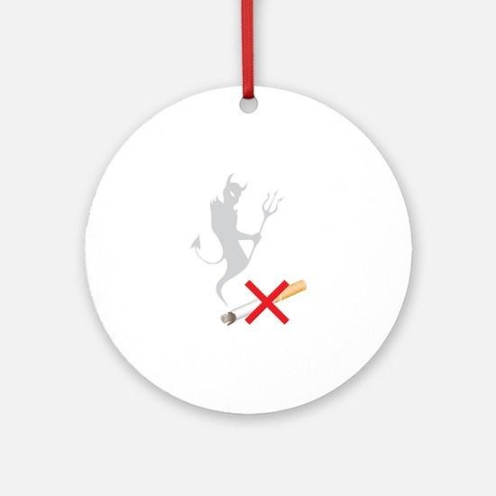 No Smoking Devil Ornament (Round)