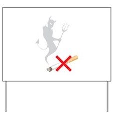 No Smoking Devil Yard Sign