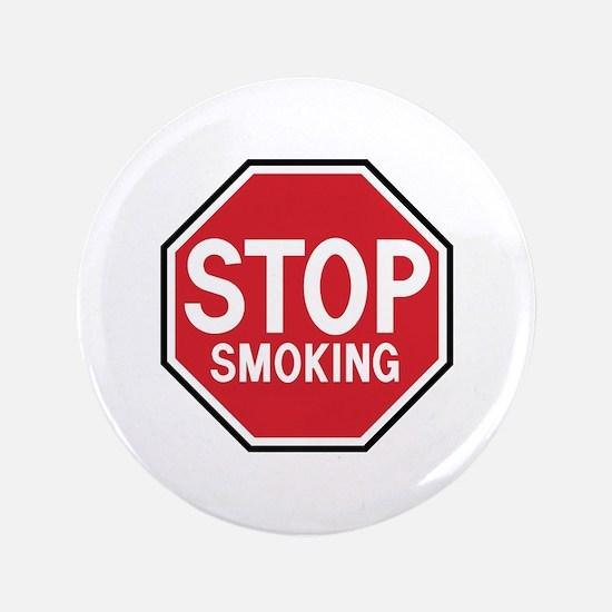 """Stop Smoking 3.5"""" Button"""
