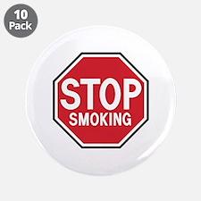 "Stop Smoking 3.5"" Button (10 pack)"