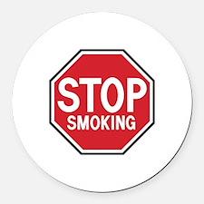 Stop Smoking Round Car Magnet