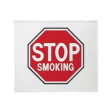 Stop Smoking Throw Blanket