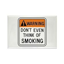 Smoking Warning Rectangle Magnet