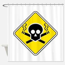 Smoking Warning Shower Curtain