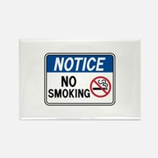 Notice No Smoking Rectangle Magnet