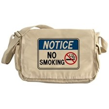 Notice No Smoking Messenger Bag