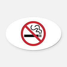 No Smoking Oval Car Magnet