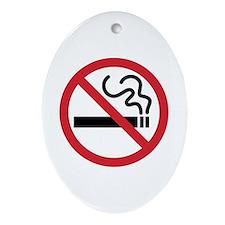 No Smoking Ornament (Oval)