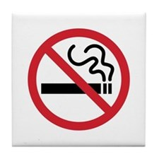 No Smoking Tile Coaster