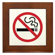 No Smoking Framed Tile