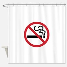 No Smoking Shower Curtain