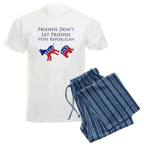 Friends Dont Let Friends Vote Republican PJ's