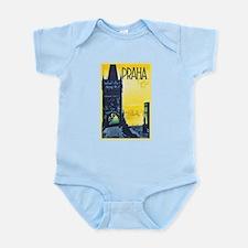 Prague Travel Poster 1 Infant Bodysuit