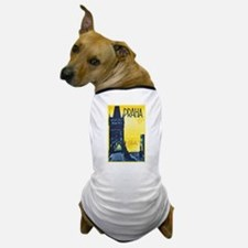 Prague Travel Poster 1 Dog T-Shirt