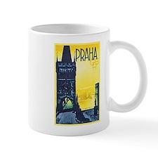 Prague Travel Poster 1 Small Mug