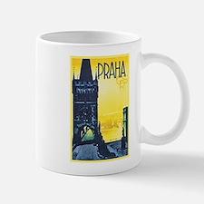 Prague Travel Poster 1 Small Small Mug