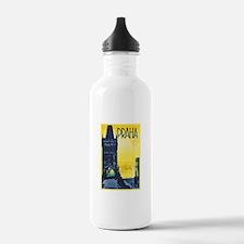 Prague Travel Poster 1 Water Bottle