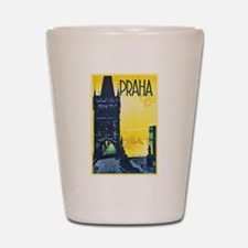 Prague Travel Poster 1 Shot Glass