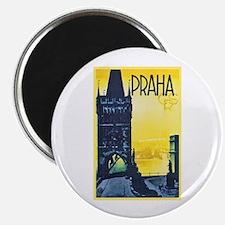 "Prague Travel Poster 1 2.25"" Magnet (10 pack)"