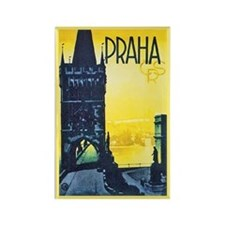 Prague Travel Poster 1 Rectangle Magnet