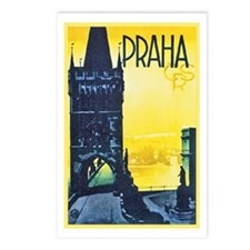 Prague Travel Poster 1 Postcards (Package of 8)