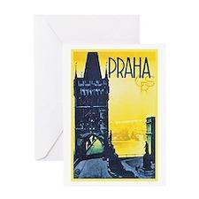Prague Travel Poster 1 Greeting Card