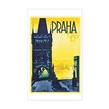 Prague Travel Poster 1 Decal