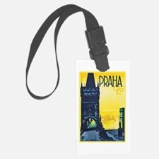 Prague Travel Poster 1 Luggage Tag