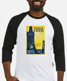 Prague Travel Poster 1 Baseball Jersey