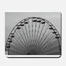 Half Ferris Wheel Mousepad