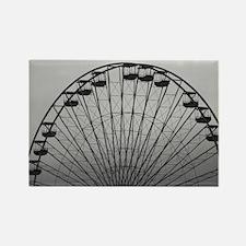 Half Ferris Wheel Rectangle Magnet
