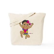 Sophie running Tote Bag