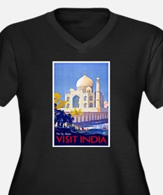 India Travel Poster 13 Women's Plus Size V-Neck Da